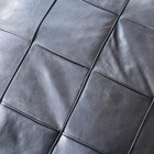 Close up of leather stitching