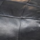 Close up of black leather