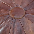 Close up of segmented leather and central piece