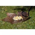 Forever Autumn Leaf Design Bird Bath & Feeder