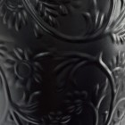 Close-up of the Black Floral Design