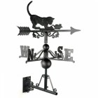 Cat & Mouse Weathervane on the Universal Bracket Vertically