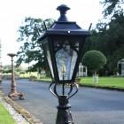 Detailed image of black gothic lantern