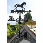 Cast Iron Horse Weathervane in Situ