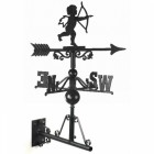 "Cast Iron ""Cherub""Weathervane Mounted on the Universal Bracket Horizontally"