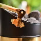 Black and Brass Warwick Coal Bucket Close Up