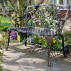 Black and Bronze Rose Design Bench In Situ