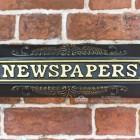 Black And Gold Vintage Newspaper Holder