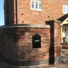 Black Post Box - outside new housing development