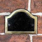 Blank Black & Brass Arched Number Sign
