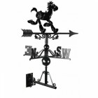 Black Cast iron Bullseye Horse Weathervane