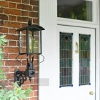 Black Curved Top Victorian Porch Wall Light