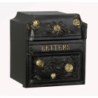 Black Finsbury Letter Box (English Roses)