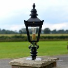 Harrogate Pillar Light and Lantern Set in Situ on a Driveway