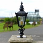 Harrogate Pillar Light and Lantern Set in Situ on Brick Pillar