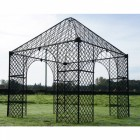 """The Lord Beaumont"" Black Iron Gazebo"