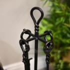 Black Iron Twist Fireside Companion Set