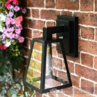 Black Modern Top Fix Wall Lantern