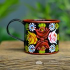 Narrow Boat Mug  Hand Painted in Black