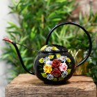 Black Watering can with a Large Carry Handle