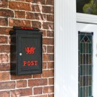 Red Welsh Dragon Post Box in Situ on the Wall By the Front Door