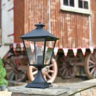 Black Simplistic Victorian Pedestal Light 64cm