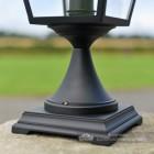 Black Simplistic Victorian Pillar Light 64cm Lantern Base