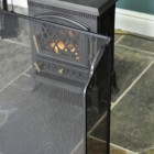 Black Fire Guard in a Sloping Design
