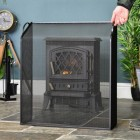 Black Sloping Fire Guard to Scale