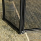 Black Square Three Fold Fire Guard Base