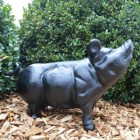 Black pig sculpture