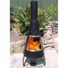 Black & Steel Finish Contemporary Chimenea created Out of Steel