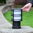 Black Steel Low Level Bollard Light to Scale