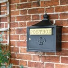 Black Suffolk Post or Parcel Box