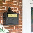 Black The Suffolk Post or Parcel Box Installed By Front Door