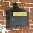Black The Suffolk Post or Parcel Box Mounted On Wall