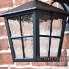 Close-up of the Beveled Glass in the Lantern