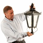 Victorian Lamp Post Black - Lantern Size