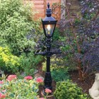 1.5 miniature Victorian Lamp Post in flower bed