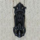 Victorian Style Door Knocker in Black