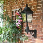 Black Victorian Wall Lantern And Bracket