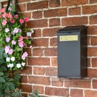 Black Wall Mounted Parcel Box With Lift Up Lid