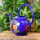Blue Narrowboat Style Watering Can