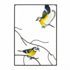 Blue Tit Wall Art in a Hand Painted Finish
