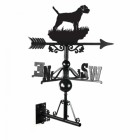 Cast Iron Border Collie Dog Weathervane