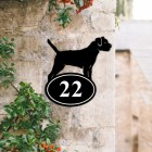 Border Terrier Iron House Number Sign Created Out of Iron