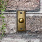 Rectangle door bell finished in antique brass