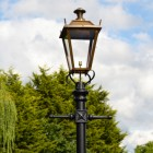 Antique Brass Dorchester Lamp Post & Lantern Set 2.7m