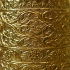 "Close-up of the Ornate Pattern on the ""Rosecroft Manor"" Umbrella Stand"