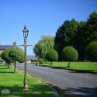 Brass Harrogate Lantern on Gold finished cast iron lamp post
